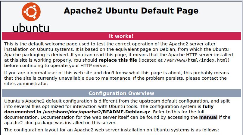 Servidor web con Apache2