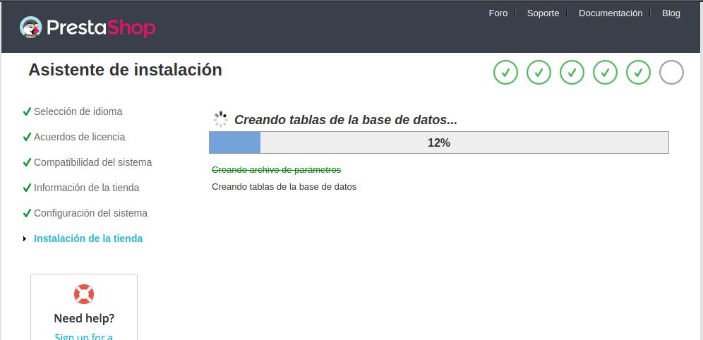 Instalación de Prestashop en Ubuntu