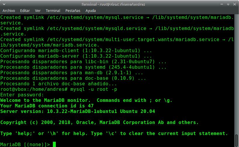 Instación de MariaDB en Ubuntu 20.04