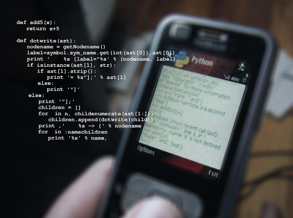 lenguaje python en movil un tipo de lenguaje informático